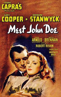 Meet John Doe, 1941, Theatrical Release Poster