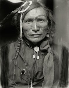 Iron White Man, a performer in Buffalo Bill's Wild West Show, by Gertrude Käsebier, ca.1900