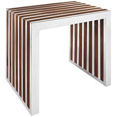 LexMod - Gridiron Small Wood Inlay Bench
