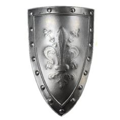 medieval shields | Medieval aluminum shield with emblem lily