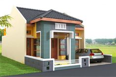 70 Examples of Simple House Models that Look Luxurious and Modern - House Designs Minimalist House Design, Small House Design, Minimalist Home, Modern House Design, Bungalow Haus Design, Bungalow House Plans, Small House Exteriors, Exterior Cladding, House Elevation
