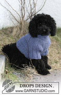"DROPS dog coat in ""Eskimo"". ~ DROPS Design"