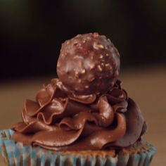 These crunchy chocolate candies make an adorable topping and sweet surprise inside these cupcakes. And it couldn't be easier!