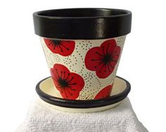 Flower Power Hand Painted Flower Pot by MicheleCordaroDesign