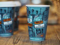 Illustration for reusable porcelain coffee cup | Designer: Upstruct & Claudia Silbermann