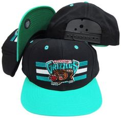 Memphis Grizzlies Black/Teal Two Tone Snapback Adjustable Plastic Snap Back Hat / Cap by adidas. $14.97. One Size Fits All. Embroidered team graphics. Make a fashion statement while wearing this retro snapback cap.
