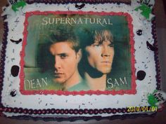 Supernatural Cake. I love this! Will someone PLEASE get me this for my next birthday? PLEASE!?!?!