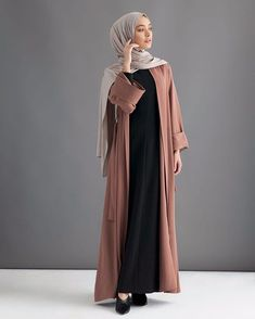 We are going to introduced with you a new style of abaya designs 2018 & gown fashion for women. New Styles of abaya designs and gowns were recently launched by famous fashion Abaya Fashion, Muslim Fashion, Modest Fashion, Fashion Outfits, Dress Fashion, Style Fashion, Fashion Ideas, Fashion Inspiration, Casual Hijab Outfit