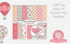 Digital Scrapbook Freebie Facebook Hop 37 Designers, TONS of FREE CLIP ART!