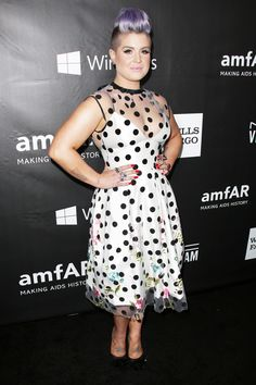 Layers and sexy dressing may not always go hand-in-hand, but Kelly Osbourne, the Fashion Police host proved two dresses are better than one as she layered a sheer and polka-dotted number over a fitted frock.