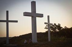 three crosses Falls Creek Oklahoma #Falls #creek #oklahoma