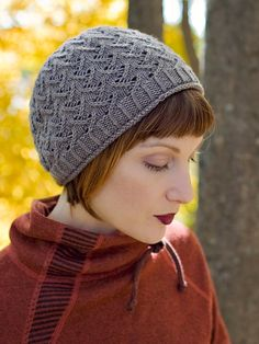Stax hat pattern by Carina Spencer Knit Or Crochet, Lace Knitting, Crochet Hats, Knitting Patterns, Crochet Patterns, How To Purl Knit, Knitting Accessories, Bandeau, Yarn Crafts