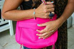 Love this neon pink Rebecca Minkoff bag.