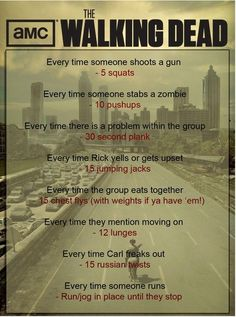 Walking Dead Workout Regimen