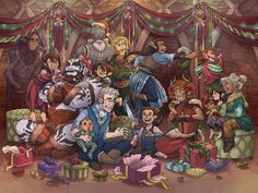 Our special holiday fan art gallery! Critical Role Characters, Critical Role Fan Art, D D Characters, Half A Decade, Vox Machina, Beast Boy, Superwholock, Dungeons And Dragons, Art Gallery