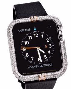 The most luxurious Apple watch case to date. 18 Karat white and rose gold diamond watch case contains over 500 handset diamonds. This stunning case is sure to dazzle with over 5 and a half carats of VS quality and colorless brilliant cut diamonds. Each piece is made to perfection which does not interfere with microphone or speaker. Available for 38 & 42 mm. A shear masterpiece of luxury for the tech. Savvy individual.   Brilliant bezels  (818) 390-3087 (213) 595-9555 (323) 251 -9097