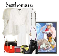 """""""Sesshomaru // InuYasha: A Feudal Fairy Tale"""" by glitterbug152 ❤ liked on Polyvore featuring Obsessive Compulsive Cosmetics, Chloé, Topshop, Calypso St. Barth, Urban Decay, Tai, Pamela Love, Valentino, women's clothing and women"""