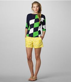 This is the perfect golf outfit. Head straight to the beaches of the Outer Banks after you play 9 holes.