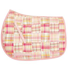 Preppy light blue or pink patch design Fits with english all-purpose saddles Billit straps included Colors: light blue or pink Pony Express, Saddle Blanket, Patch Design, Saddle Pads, Saddles, Clothes Horse, Patches, Couture, Pink