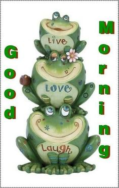 i love frogs Good Morning Quotes For Him, Good Morning Funny, Good Morning Good Night, Good Morning Wishes, Good Morning Images, Morning Kisses, Morning Greetings Quotes, Morning Messages, Morning Live