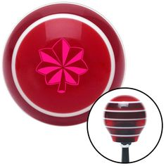 Pink Officer 04 and 05 Red Stripe Shift Knob with M16 x 15 Insert