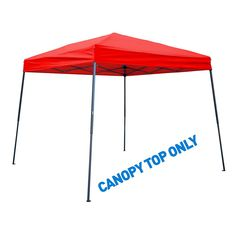 Trademark Innovations 8 ft. x 8 ft. Red Square Replacement Canopy Gazebo Top for 10 ft. Slant Leg Canopy