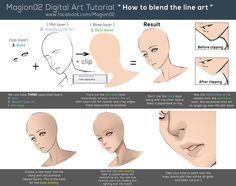 How to blend line art tutorial by magion02.deviantart.com on @deviantART