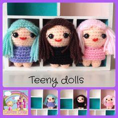 Custom crochet Teeny dolls by Darcy's Dolls www.facebook.com/Darcysdolls