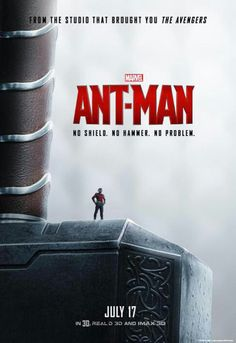 New poster, Ant-man is on Thor's hammer #Mjolnir