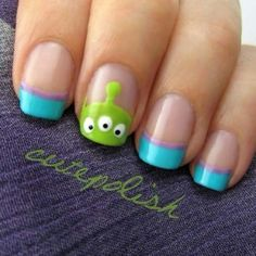 Toy story nails #disney #alien #nails #cute