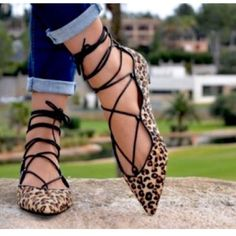 ZARA AUTHENTIC LEATHER LEOPARD BALLET FLATS NTW ZARA LEOPARD FUR SKIN LEATHER LACE UP BALLET FLATS BRAND NEW WITH ORIGINAL TAGS. PERFECT SPRING/FALL SHOE TO WEAR WITH LONG FLOWING SKIRTS, DRESSES, SKINNY & BOYFRIEND JEANS. Zara Shoes