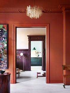 Gallery with inspirational pictures of Traditional Paint lacquer. Perfect for doors, window frames and walls. Colour Architecture, Interior Architecture, Interior And Exterior, Orange Interior, Traditional Paint, Interior Paint Colors, Interior Painting, Interior Design Companies, Deco Design