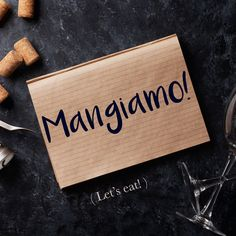 Frase della settimana / Phrase of the week: Mangiamo! (Let's eat!) To find out more about this phrase and hear the pronunciation, visit our website! #italian #italiano #italianlanguage #italianlessons Italian Grammar, Italian Vocabulary, Italian Humor, Italian Phrases, Italian Words, Italian Quotes, Rare Words, New Words, Italian Dialects