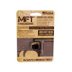 Mission First Tactical - E-VolV AR Enhanced Magazine Release, Black