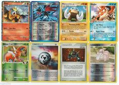 Pokemon lot of 8 cards WITH RARES ALL PICTURED Not Perfect with Entei HGSS20