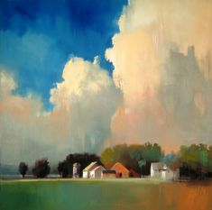 Artist Paul Stone | Love the colors in this landscape and the feeling of hugeness on the sky.