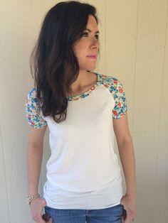 Tester short sleeve version - Rivage Raglan - Women's Raglan T-shirt Sewing Pattern by Blank Slate Patterns