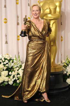Meryl Streep, 2012 Won her second Oscar for her portrayal in The Iron Lady Meryl Streep, Oscar Gowns, Oscar Dresses, Oscars, Best Actress Oscar, The Iron Lady, Oscar Fashion, Oscar Winners, Get Dressed