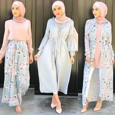 Refresh your summer wardrobe with new colorful casual wear, and be ready for the summer break! Hijab fashion became a big trend nowadays and the hijab style is Modern Hijab Fashion, Street Hijab Fashion, Hijab Fashion Inspiration, Islamic Fashion, Muslim Fashion, Modest Fashion, Abaya Fashion, Modest Dresses, Modest Outfits