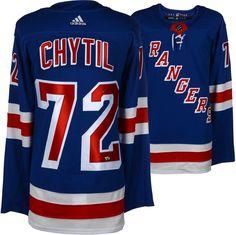 2d4796d4fb7 Filip Chytil New York Rangers Autographed Blue Adidas Authentic Jersey