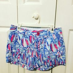 Lilly Pulitzer shorts size 6 EUC Lilly Pulitzer Red Right Return size 6. These have been worn one time. In excellent condition.$80 OBO on ️️ cross posted. Lilly Pulitzer Shorts
