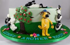 Shaun the Sheep and Friends.  - Cake by Lisa-Jane Fudge