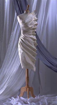 "Antony Price  F/W 1986,  ""Bird's Wing"" Dress | Victoria and Albert Museum"