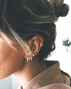 30 ear piercings for women beautiful and sweet ideas - # for . - 30 ear piercings for women beautiful and sweet ideas – - Ear Piercing Helix, Innenohr Piercing, Ear Peircings, Cute Ear Piercings, Multiple Ear Piercings, Body Piercings, Bellybutton Piercings, Ear Piercing For Women, Ear Piercings