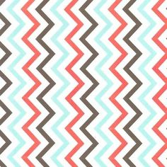 Michael Miller House Designer - Chevrons - Mini Chic Chevron in Coral