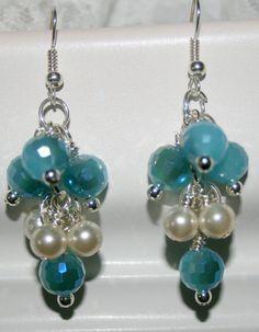 Blue Swarovski earrings by DakotaDesignsbyVicki on Etsy, $25.00