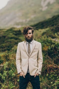 Love this unconventional groom style! Photo by Paula O'Hara