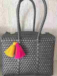 Paquete 2 Bolsas Medianas Artesanales Mexicanas Plastico