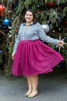 Tulle Skirt - Something Gold, Something Blue blog - This tulle skirt and gingham top combo is perfect for afternoon tea