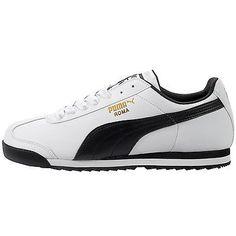 ec26245dc34 Puma Roma Basic Mens 353572-04 White Black Athletic Shoes Casual Sneakers Sz  8.5 Classic